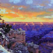 Grand Canyon Winter Sunset Print by Gary Kim