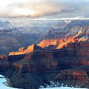 Grand Canyon With Snow Art Print