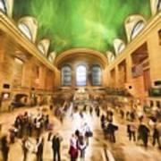 Grand Central Rush     Go2 Art Print