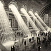 Grand Central Terminal, New York In The Thirties Art Print