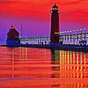 Grand Haven Lighthouse Art Print