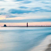 Grand Haven Pier - Smooth Waters Art Print