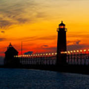 Grand Haven Sunset Art Print