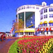 Grand Hotel Tulips Art Print