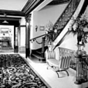 Grand Island Mansion Mosher Ranch 7 B And W Art Print