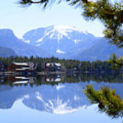 Grand Lake Co Mt Baldy From Shadow Mtn Lake Art Print