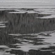 Grand Lake Evergreen Reflection On Ice I Art Print