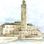 Grand Mosque Hassan II  Front Side Art Print