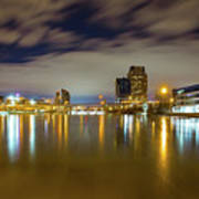Grand Rapids At Night Art Print