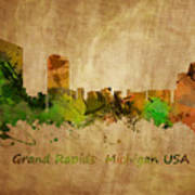 Grand Rapids  Michigan Art Print