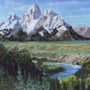 Grand Teton And Snake River Art Print