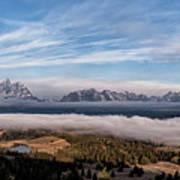 Grand Teton Mountain Range Art Print