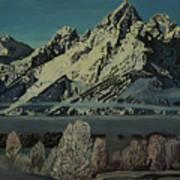 Grand Teton Winter Art Print