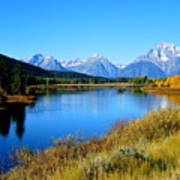 Grand Tetons 1 Art Print by Carrie Putz