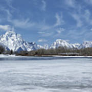Grand Tetons And Snake River From Oxbow Bend Art Print