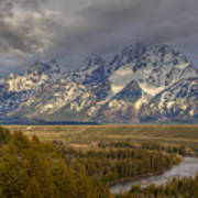 Grand Tetons Snake River Art Print