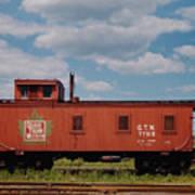 Grand Trunk Railroad Wood Caboose Art Print