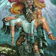 Grandeza Azteca Art Print