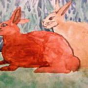 Grandma's Bunnies Art Print