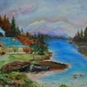 Grandmas Cabin Art Print