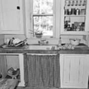 Grandma's Kitchen B W Art Print