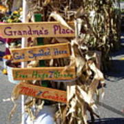 Grandma's Place Get Spoiled Here Art Print