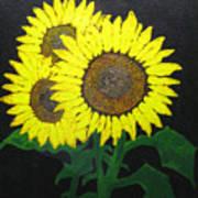 Grandmas Sunflowers Art Print