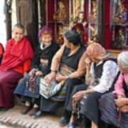 Grandmothers' Talk After Morning Prayer Art Print
