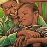 Grandpa And Me Art Print by Curtis James