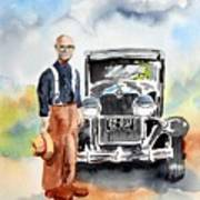 Grandpa's Chevy Art Print