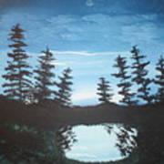 Grandpa's Piney Pond Art Print