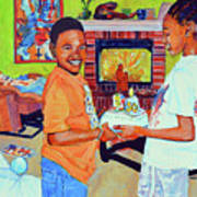 Grandpas Surprise Art Print