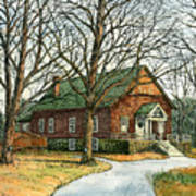Grange Hall No.44 Print by Elaine Farmer