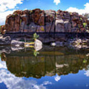 Granite Dells Reflection Art Print