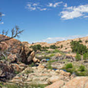 Granite Dells Rocky Terrain  Art Print