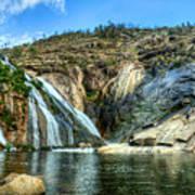 Granite Mountain Waterfall Panorama Art Print