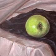 Granny Apple On Velvet And Satin - Sold Art Print