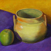 Granny Smith And The Yellow Pot Art Print