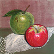 Granny Smith With Pink Lady Art Print