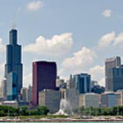 Grant Park And Chicago Skyline Art Print