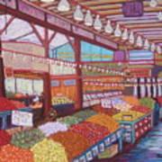 Granville Island Market Bc Art Print