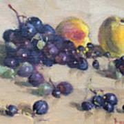 Grape And Peach Art Print