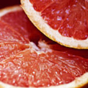 Grapefruit Halves Art Print
