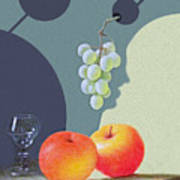 Grapes And Apples Art Print