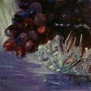 Grapes And Glass Art Print