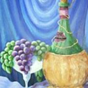 Grapes And Lace Art Print by Janna Columbus
