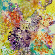 Grapes And Leaves I Art Print