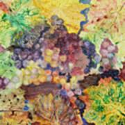 Grapes And Leaves II Art Print