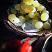 Grapes And Tomatoes Art Print