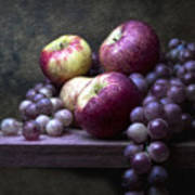 Grapes With Apples Art Print